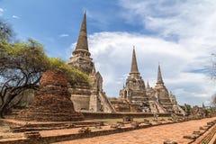 ayutthayaen fördärvar Royaltyfri Bild