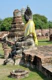 ayutthayamahathatthailand wat Arkivfoton