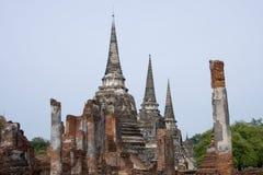 ayutthayapagodas fördärvar thailand Royaltyfria Bilder