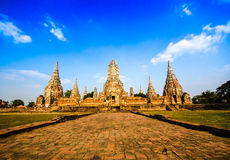 Ayutthayatempel en historische plaats in Thailand Royalty-vrije Stock Foto's