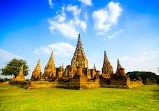 Ayutthayatempel en historische plaats in Thailand Stock Afbeelding