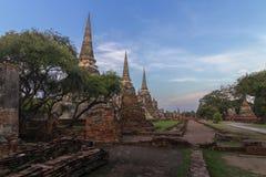 ayutthayatempel thailand royaltyfria foton