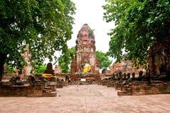 ayutthayatempel thailand Royaltyfria Bilder
