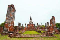 ayutthayatempel thailand Royaltyfri Bild