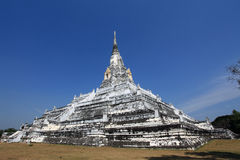 ayutthayatempelthailand white Royaltyfri Foto