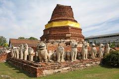 ayutthayawat Arkivbild