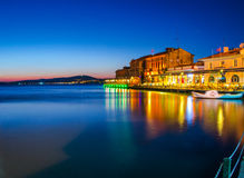 Ayvalik by Night Stock Image