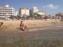 Ayvalik plaża Zdjęcia Stock