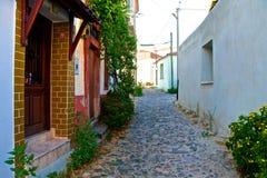 Ayvalik Town, old streets in Cunda Stock Image