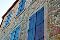 Ayvalik Town, old streets in Cunda Stock Photography