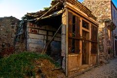 Ayvalik Town, old streets in Cunda Stock Photos