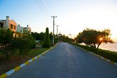 Ayvalik Town, old streets in Cunda Royalty Free Stock Image