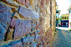 Ayvalik Town, old streets Stock Images