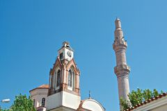 Ayvalik Town, old streets Stock Photo