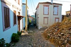 Ayvalik Town, old streets Royalty Free Stock Photography