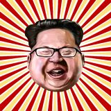 Ayvalik, Turkey - December 2017: Kim Jong-un cartoon portrait, i. Llustrated in Ayvalik, Turkey by Erkan Atay on December 2017 Royalty Free Stock Photos