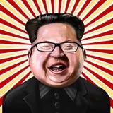 Ayvalik, Turquie - décembre 2017 : Portrait de bande dessinée du Jong-ONU de Kim, I Photographie stock libre de droits