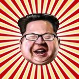 Ayvalik, Turquie - décembre 2017 : Portrait de bande dessinée du Jong-ONU de Kim, I Photos libres de droits