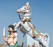 Ayyanar и его статуя лошади Стоковая Фотография