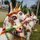 Ayyanar horse temple in Chettinad, India royalty free stock photo