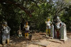 Ayyanar horse temple in Chettinad, India stock photography