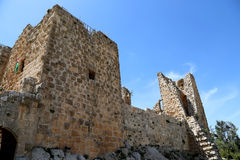 The ayyubid castle of Ajloun in northern Jordan, built in the 12th century, Middle East Royalty Free Stock Photography