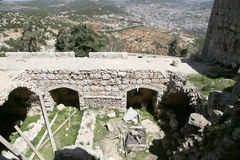The ayyubid castle of Ajloun in northern Jordan, built in the 12th century, Middle East Royalty Free Stock Photos