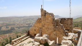 The ayyubid castle of Ajloun in northern Jordan, built in the 12th century, Middle East Royalty Free Stock Images