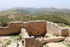 The ayyubid castle of Ajloun in northern Jordan, built in the 12th century, Middle East Royalty Free Stock Image