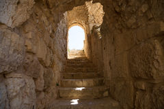 The ayyubid castle of Ajloun in northern Jordan, built in the 12th century, Middle East Stock Photography
