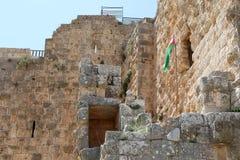 Ayyubidslotten av Ajloun i nordlig Jordanien som byggs i det 12th århundradet, Mellanösten Arkivfoton