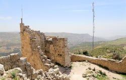 Ayyubidslotten av Ajloun i nordlig Jordanien som byggs i det 12th århundradet, Mellanösten Royaltyfri Fotografi