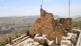 Ayyubidslotten av Ajloun i nordlig Jordanien som byggs i det 12th århundradet, Mellanösten Royaltyfria Bilder