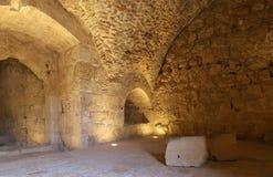 Ayyubidslotten av Ajloun i nordlig Jordanien som byggs i det 12th århundradet, Mellanösten Royaltyfri Bild
