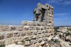 Ayyubidslotten av Ajloun i nordlig Jordanien som byggs i det 12th århundradet, Mellanösten Arkivfoto