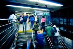 Azáfama do metro Fotos de Stock Royalty Free