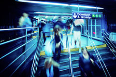 Azáfama do metro Imagens de Stock Royalty Free