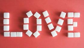 Azúcar-amor Foto de archivo libre de regalías