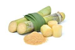 Azúcar crudo natural hecho de la caña de azúcar orgánica Imagen de archivo libre de regalías