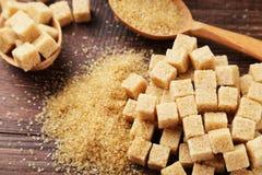 Azúcar de Brown Imágenes de archivo libres de regalías