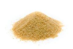 Azúcar de Brown aislado Fotografía de archivo libre de regalías