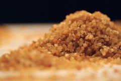 Azúcar de Brown de la caña de azúcar Fotografía de archivo libre de regalías