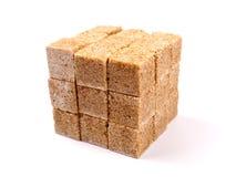Azúcar de caña de Brown Fotos de archivo