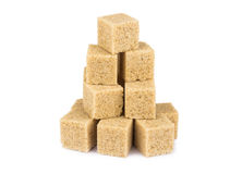 Azúcar de caña de Brown Imagen de archivo libre de regalías