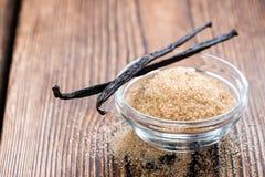 Azúcar de la vainilla (Brown) Foto de archivo libre de regalías