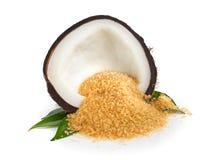 Azúcar del coco Imagen de archivo libre de regalías