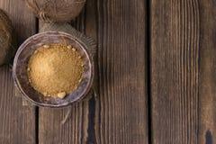 Azúcar del coco Imágenes de archivo libres de regalías