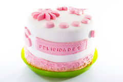 Azúcar en colores pastel del rosa y blanco Fotografía de archivo