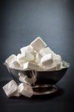 Azúcar en fondo oscuro Imagen de archivo