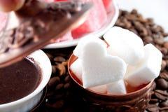 Azúcar en forma de corazón Imagen de archivo